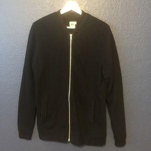 ASOS Black Zip Up Sweater Jacket